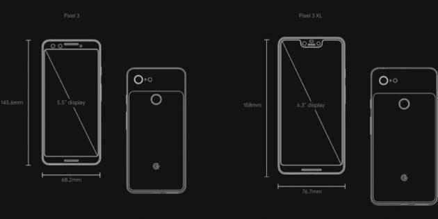 Google анонсировала смартфоны Pixel 3 и Pixel 3 XL с выросшими экранами и усовершенствованными камерами