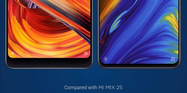Xiaomi Mi MIX 3: сравнение с Mi MIX 2