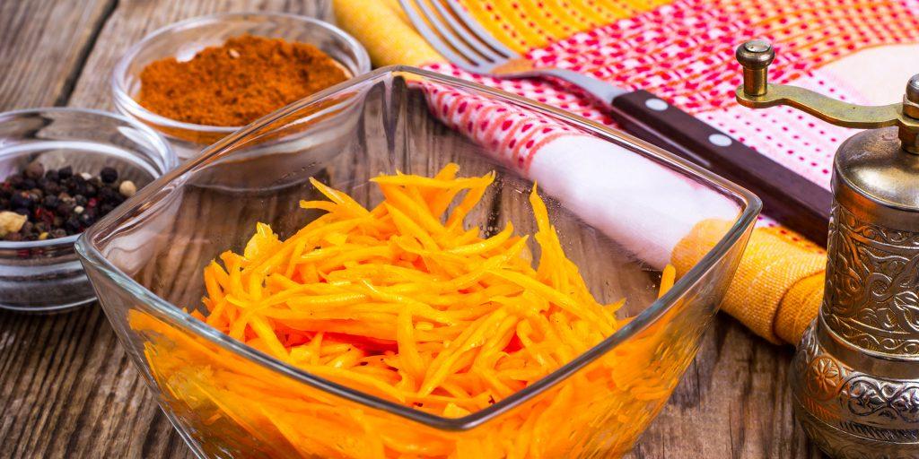 Тертая морковь: рецепты, польза и вред