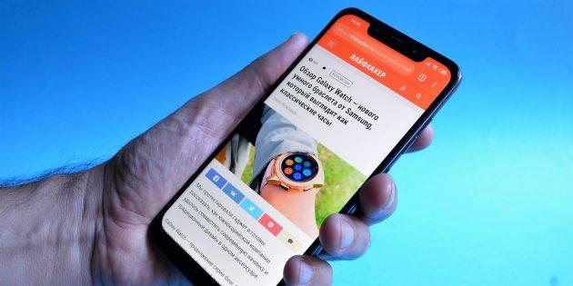 обзор Xiaomi Pocophone F1: Габариты