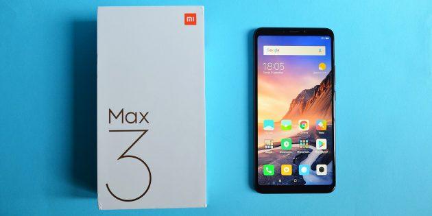 обзор Xiaomi Mi Max 3: Коробка