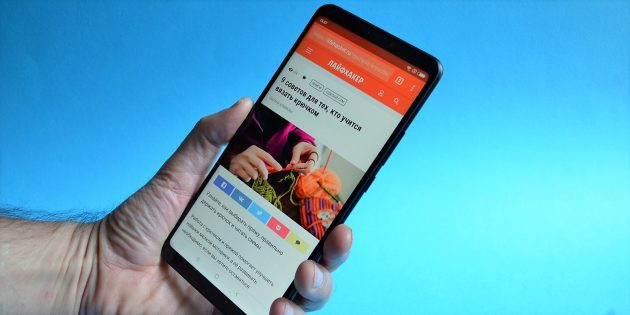 обзор Xiaomi Mi Max 3: В руке