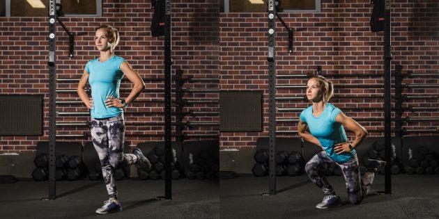 эффективные упражнения: Выпад на одной ноге