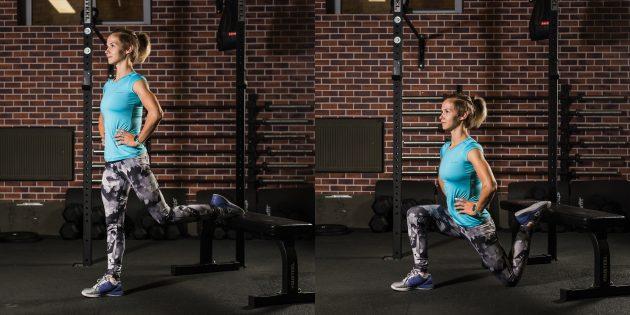 эффективные упражнения: Болгарский сплит-присед на одной ноге
