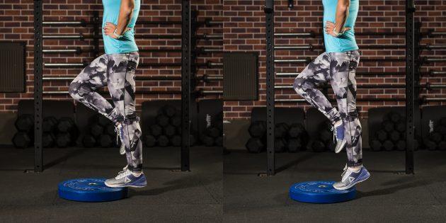 эффективные упражнения: Подъём на носочки с прямой ногой