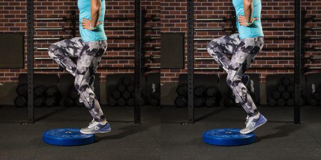 эффективные упражнения: Подъём на носочки с согнутой ногой