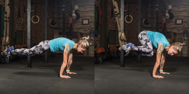 Петли TRX: Подтягивания коленей к плечам