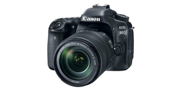 Лучшие фотоаппараты: Canon EOS 80D