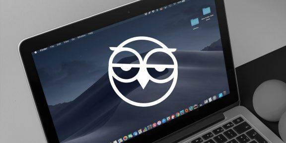 NightOwl включает тёмный режим в macOS Mojave по расписанию