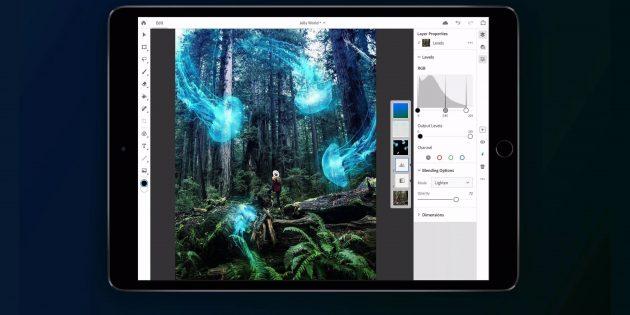 Полнофункциональная версия Photoshop CC для iPad выйдет в 2019 году