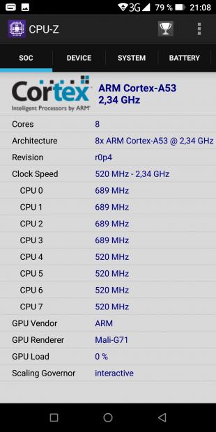 Doogee S70: процессор