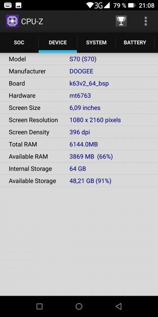 Doogee S70: характеристики