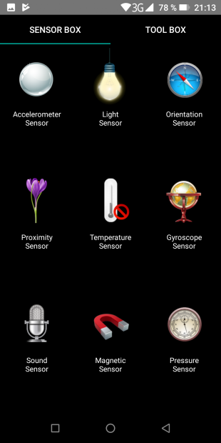 Doogee S70: сенсоры
