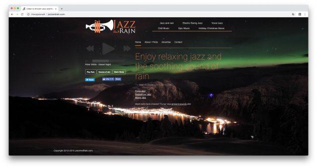 Где слушать звуки природы: Jazz And Rain