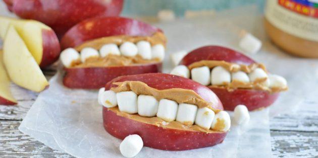 Рецепты на Хэллоуин: Яблочные челюсти