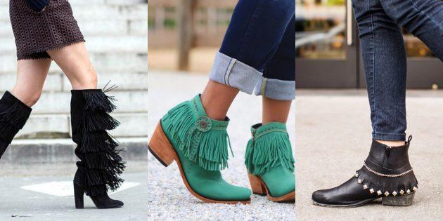 Модная женская обувь 2018 года: Обувь с бахромой