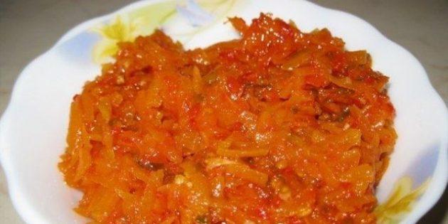 Как заготовить морковь на зиму: Салат из моркови, помидоров и перца