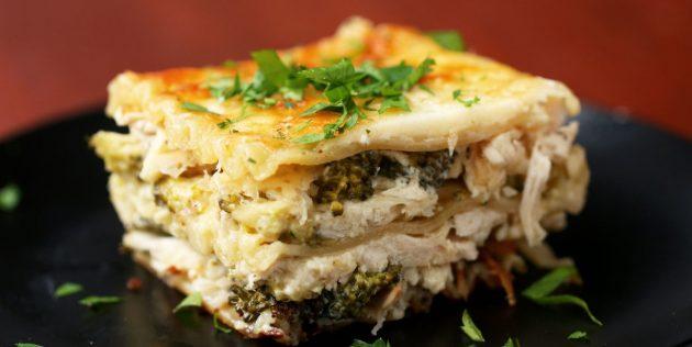 Рецепт лазаньи с курицей и брокколи