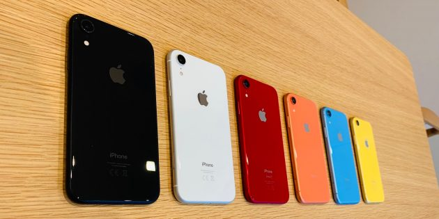 Обзор iPhone XR: цвета