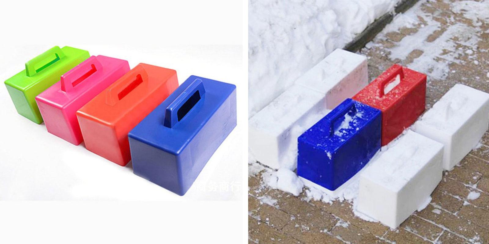 Форма для создания снежных кирпичей