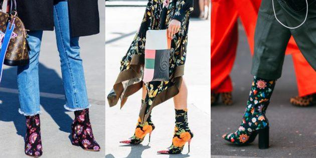 Модная женская обувь 2018 года: Обувь с цветочным принтом