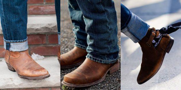 Модная мужская обувь осени-зимы 2018/2019: Обувь в ковбойском стиле