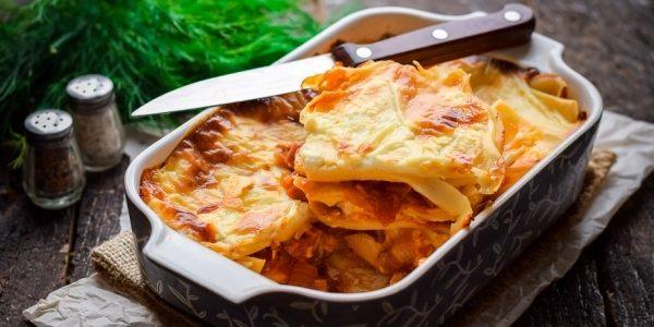 Рецепт лазаньи с ветчиной и сыром
