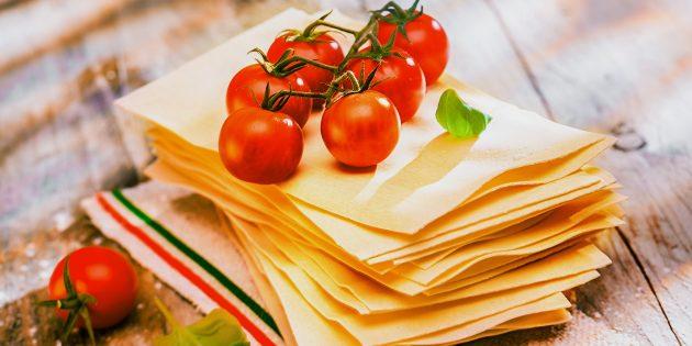Листы для лазаньи - рецепт