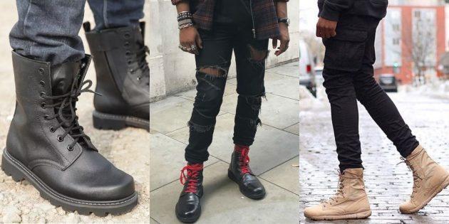Модная мужская обувь осени-зимы 2018/2019: Высокие ботинки в стиле милитари