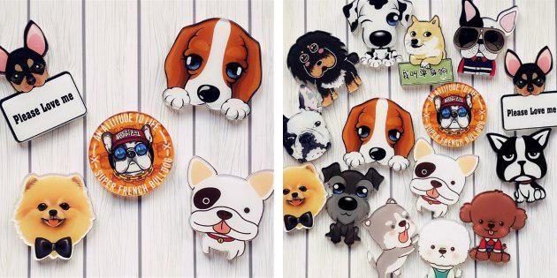 Значки с собаками