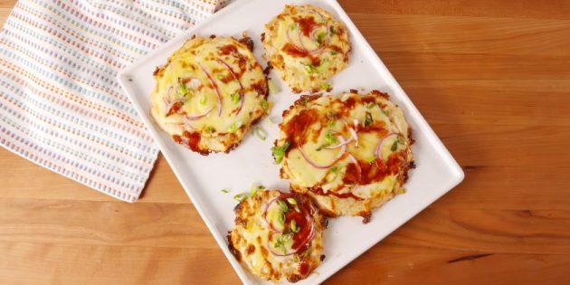 Что приготовить из фарша: Мини-пиццы на мясном тесте