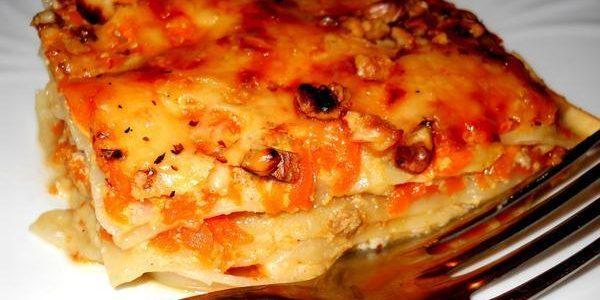 Рецепт лазаньи с тыквой, сыром и орехами
