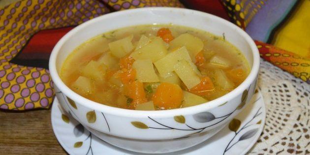 Суп с тыквой, картошкой и имбирём