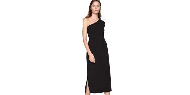 Платье длинное с открытыми плечами La Redoute