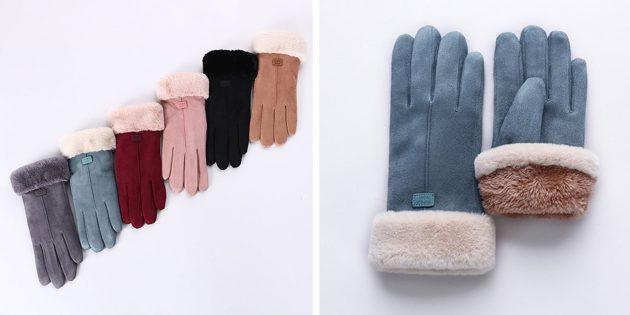 Женские сенсорные перчатки