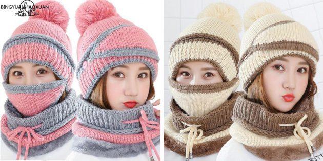 Женская шапка-балаклава