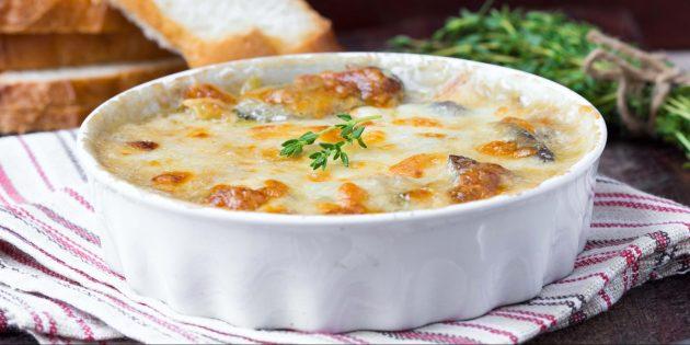 Картофельная запеканка с грибами: простой рецепт