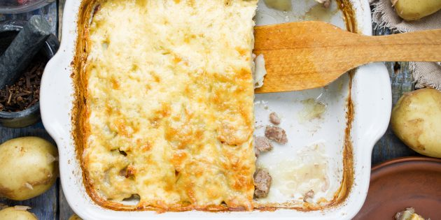 Картофельная запеканка с курицей и грибами: простой рецепт