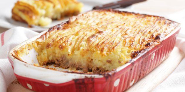 Запеканка с картофельным пюре и фаршем: простой рецепт