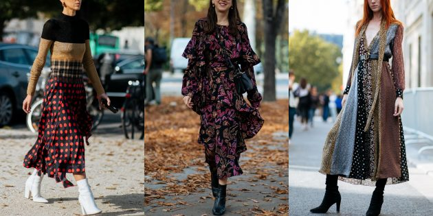 Самые модные платья осени-зимы 2018/2019: Многослойные конструкции