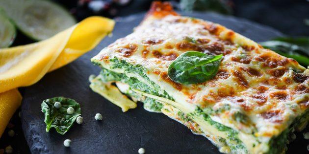 Рецепты: лазанья со шпинатом от Джейми Оливера