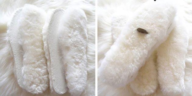 Стельки из овечьей шерсти