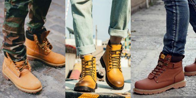 Модная мужская обувь 2018 года: Грубые рабочие ботинки