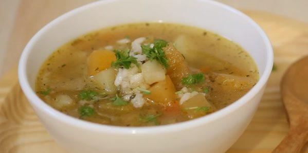 Блюда из репы: Овощной суп с репой и рисом