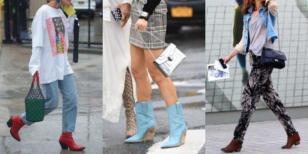 Модная женская обувь 2018 года: Сапоги и ботинки в стиле вестерн