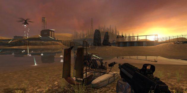Шутеры с сюжетом: Half-Life 2 (пальба на закате)
