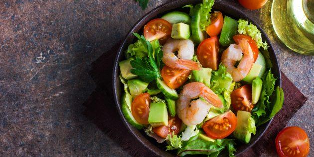10 ярких салатов с авокадо для истинных гурманов