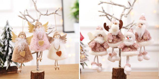 Новогодние игрушки с AliExpress: подвески-ангелочки