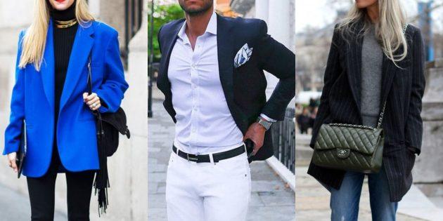 Модные пиджаки 2018–2019: С накладными плечами