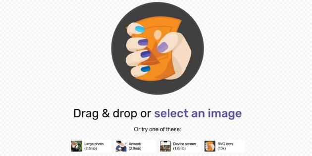 Squoosh: загрузка изображения